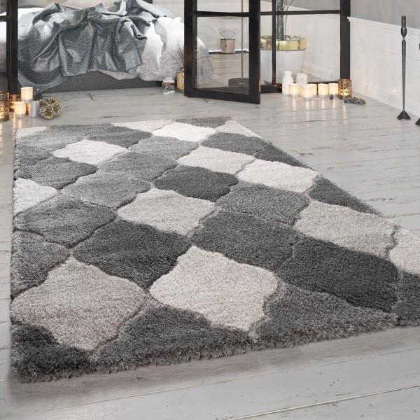 Hoogpolig tapijt voor woonkamer met oosterse look