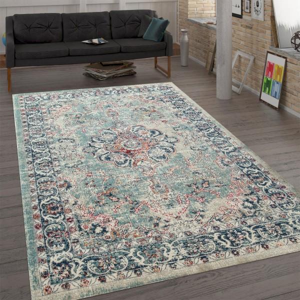 Trendy tapijt van platweefsel ornamenten meerkleurig