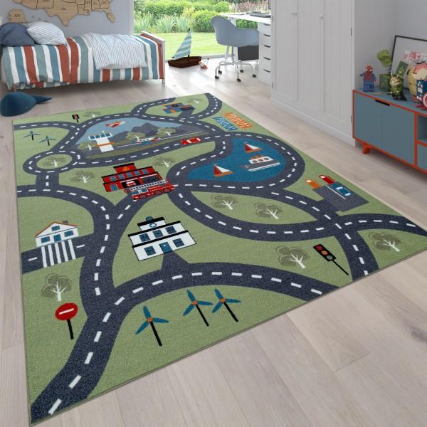 Kindertapijt, Speeltapijt voor kinderkamers, Met straatmotief