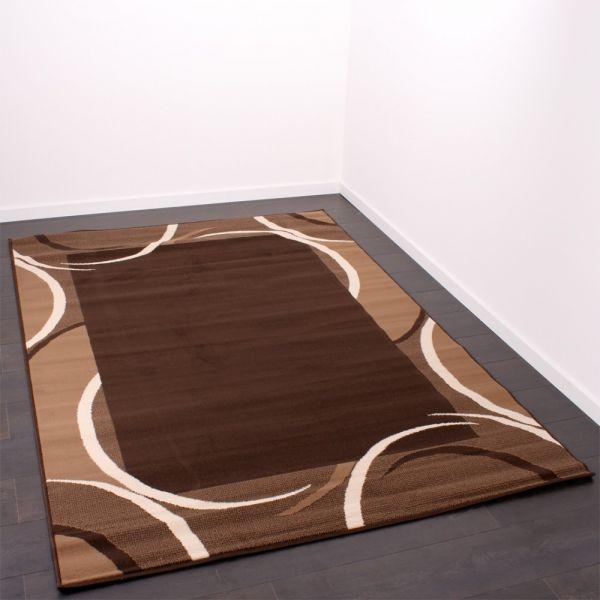 Moderner Designer Teppich Muster Beige Braun